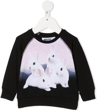 Molo Bunny Sleeves Sweatshirt