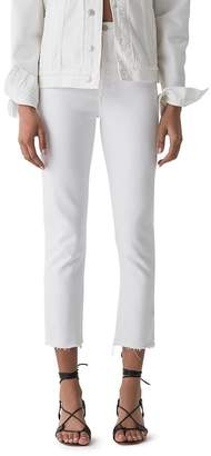 A Gold E AGOLDE Riley High Rise Straight Jeans in Blurred