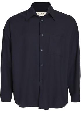 Marni Tropical Wool Button Down Shirt
