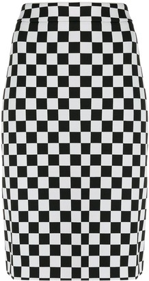 Boutique Moschino Chess Pencil Skirt