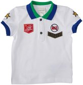 Diesel Pique Polo w/Patches (Baby/Toddler) - White-12 Months