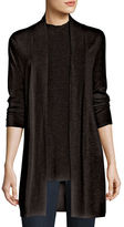 Eileen Fisher Long Open-Front Cardigan, Plus Size