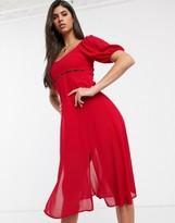 TFNC waist detail midi dress