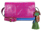 Patricia Nash Pineapple Polka Dot Collection Tivoli Tasseled Cross-Body Bag