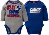 Gerber New York Giants Long-Sleeve Bodysuit Set