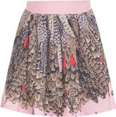 Paul & Joe Short Feather Print Skirt