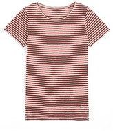 Somewhere T-shirt with short sleeves in a striped linen jersey, HENOKO