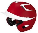 Easton Two-Tone Stealth Grip Batting Helmet, Red/White