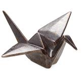Global Views Small Origami Crane Ceramic Figure