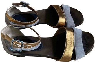 Marni Gold Suede Sandals