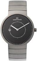 Danish Design Men's 40mm Grey Titanium Bracelet & Case Sapphire Crystal Quartz Dial Watch IQ63Q830