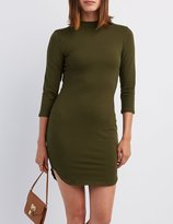 Charlotte Russe Mock Neck Bodycon Dress