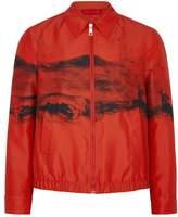Neil Barrett Red Printed Shell Jacket