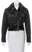 Giuliana Teso Shearling-Trimmed Leather Jacket