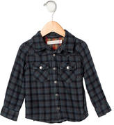 Petit Bateau Boys' Plaid Button-Up Shirt