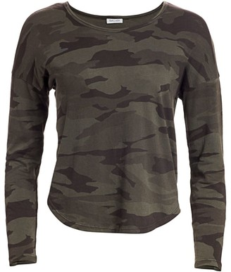 Splendid Zander Camo Cotton Tee