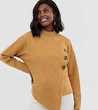 ASOS DESIGN Nursing fluffy wrap sweater