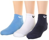 Nike Cotton Cushion Moisture Management Low Cut 3-Pair Pack (Little Kid/Big Kid)