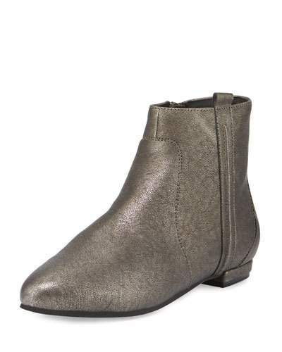 Delman Wiley Leather Ankle Boot, Pewter