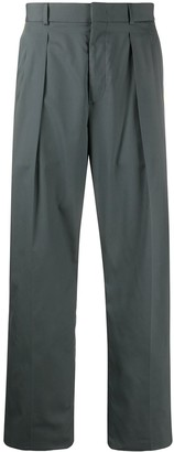 Valentino Side Stripe Straight-Leg Trousers