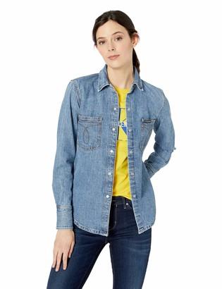 Calvin Klein Women's Long Sleeve Denim Shirt