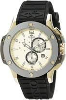 Oniss Paris Men's ON612N-RB/GLD/BLK BOLD COLLECTION Analog Display Swiss Quartz Black Watch