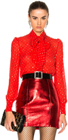 Saint Laurent Glitter Blouse