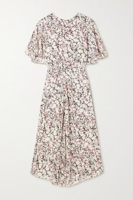 Isabel Marant Berwick Printed Silk Crepe De Chine Midi Dress - Ecru