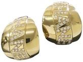 Chanel 18K Yellow Gold & Diamond Earrings