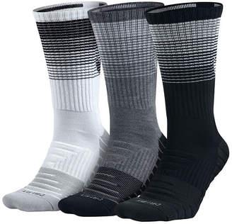 Nike 3 Pair Dry Cushion Training Crew Socks - Big & Tall