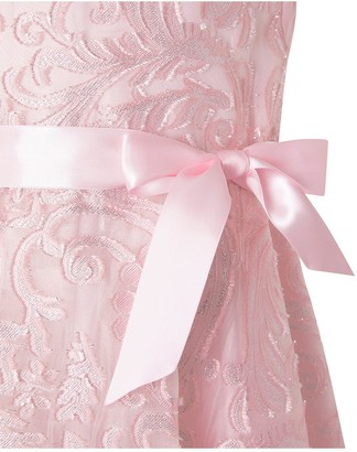 Monsoon Girls Cordelia Glitter Jacquard Dress - Pink