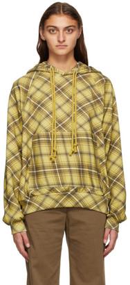 Dries Van Noten Yellow Check Hoodie