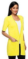 Joan Rivers Classics Collection Joan Rivers Wardrobe Builders Short Sleeve Knit Cardigan
