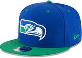 New Era Seattle Seahawks Historic Vintage 9FIFTY Snapback Cap