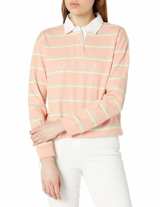 Obey Women's Long Sleeve Rugby Shirt