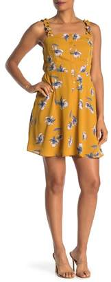 Collective Concepts Ruffle Strap Floral Print Dress