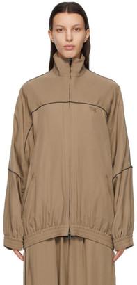 Balenciaga Brown Fluid Poplin Track Jacket