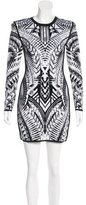 Balmain Knit Jacquard Mini Dress