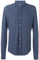 Brunello Cucinelli striped shirt - men - Linen/Flax/Spandex/Elastane - S