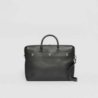 Burberry Triple Stud Grainy Leather Briefcase