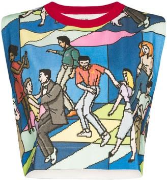 Kirin dancers print T-shirt