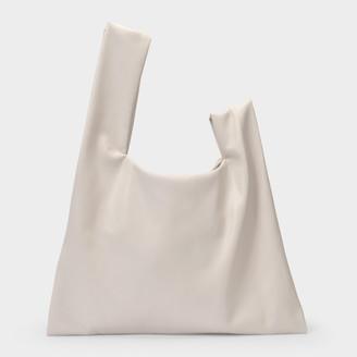 Nanushka Handbag Jen In A Patchwork White And Brown Vegan Leather