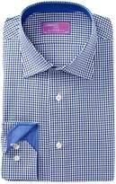 Lorenzo Uomo Gingham Check Trim Fit Dress Shirt