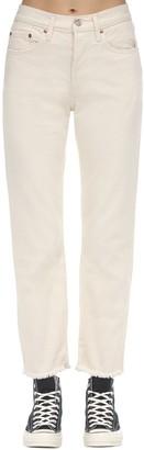Levi's 501 Cropped Cotton Denim Jeans