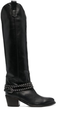Via Roma 15 Stud-Wrapped Western-Boots