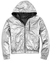 Blank NYC Blanknyc Girls' Reversible Metallic Rain Jacket - Big Kid