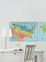 Kids USA and World Map Decals (Set of 2)