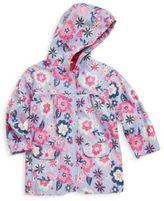 Hatley Little Girl's & Girl's Wintery Blooms Polyurethane Raincoat