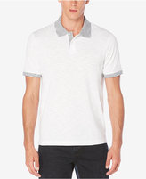 Perry Ellis Men's Big and Tall Space-Dyed Trim Polo