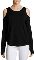 Generation Love Marie Crisscross-Back Cold-Shoulder Top, Black